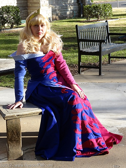 Princess Aurora's Pink and Blue Gown  (Sitting at Table)