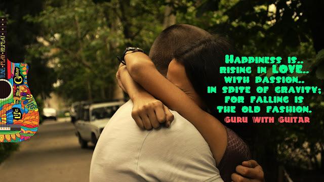 happiness_rise_love_fall_gravity_quote_guru_with_guitar_vikrmn_tune_play_repeat_chartered_accountant_ca_author_srishti_vikram_verma_tpr