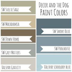 Decor and the Dog Paint Colors