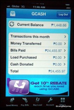 The Globe GCash Mobile App for iPhone, Android and BlackBerry