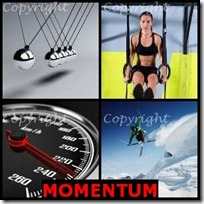 MOMENTUM- 4 Pics 1 Word Answers 3 Letters