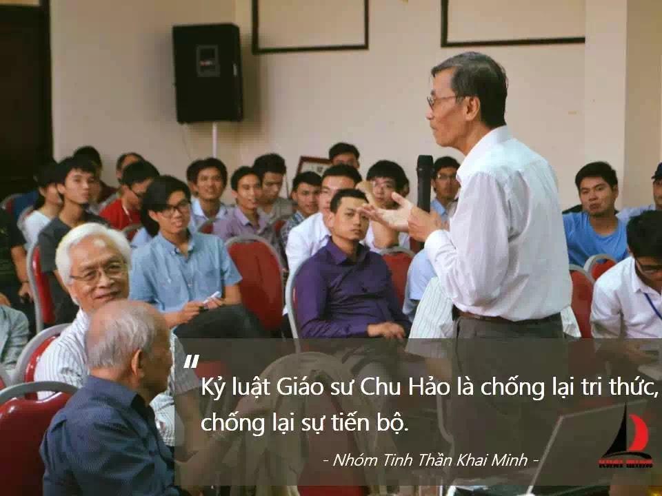 Thư ngỏ: Đứng cùng giáo sư Chu Hảo
