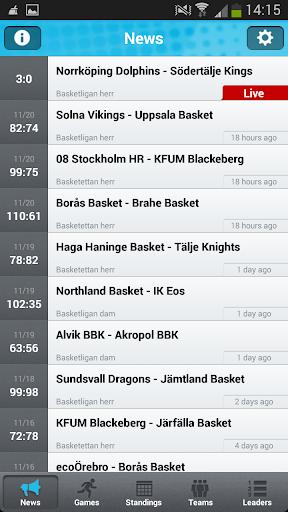 Basketappen Live