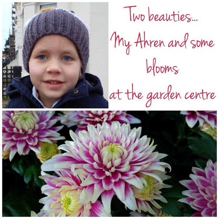 Ahren and flowers