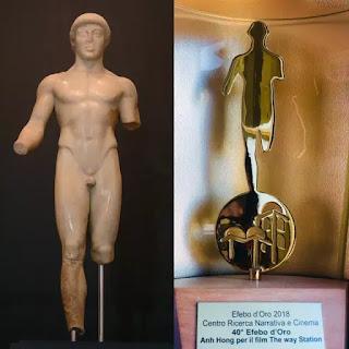 Chiếc cúp được thực hiện theo một trong những biểu tượng điêu khắc tuyệt đẹp nổi tiếng của Ý về cậu bé 17 tuổi.