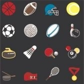 663287-series-of-icons-or-design-elements-relating-to-sports