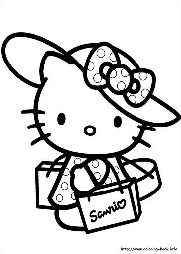 Hello Kitty Para Colorear