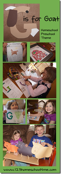 Homeschool Preschool Letter G is for Goat #alphabet #preschool