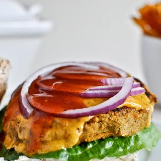 BBQ Cheddar Chickpea Burgers.
