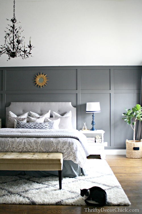 dark accent wall