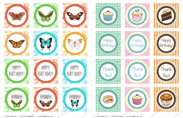 2013Feb22 printable cupcake toppers butterflies and cakes