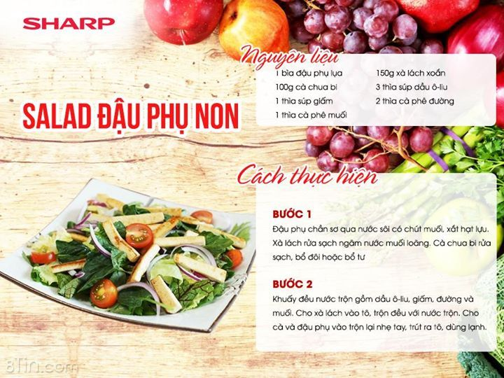Salad đậu phụ non thanh mát, ngon miệng và bổ dưỡng. Đối