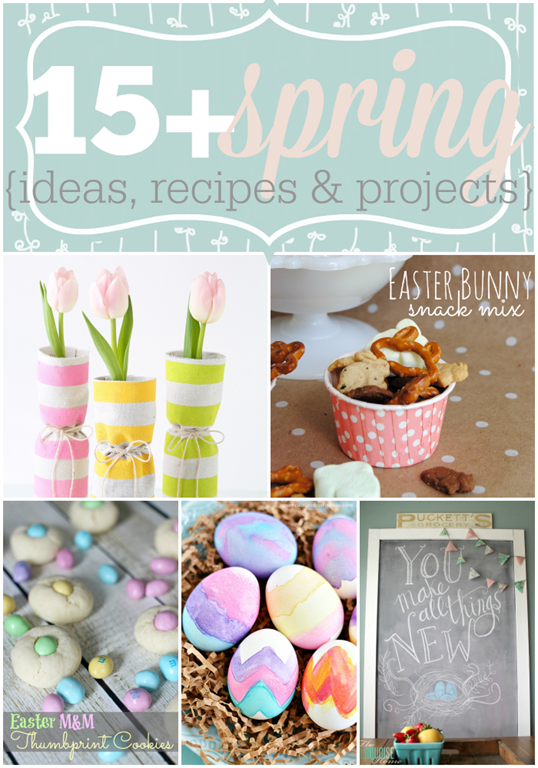 Over 15 Spring Ideas, Recipes & Projects featured at GingerSnapCrafts.com #linkparty #features #spring