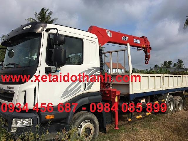 Xe tải 15,5 tấn Daewoo gắn cẩu 5 tấn