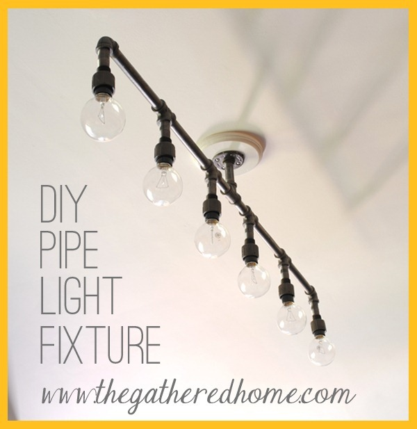 Remember september the gathered home for Diy conduit light fixture