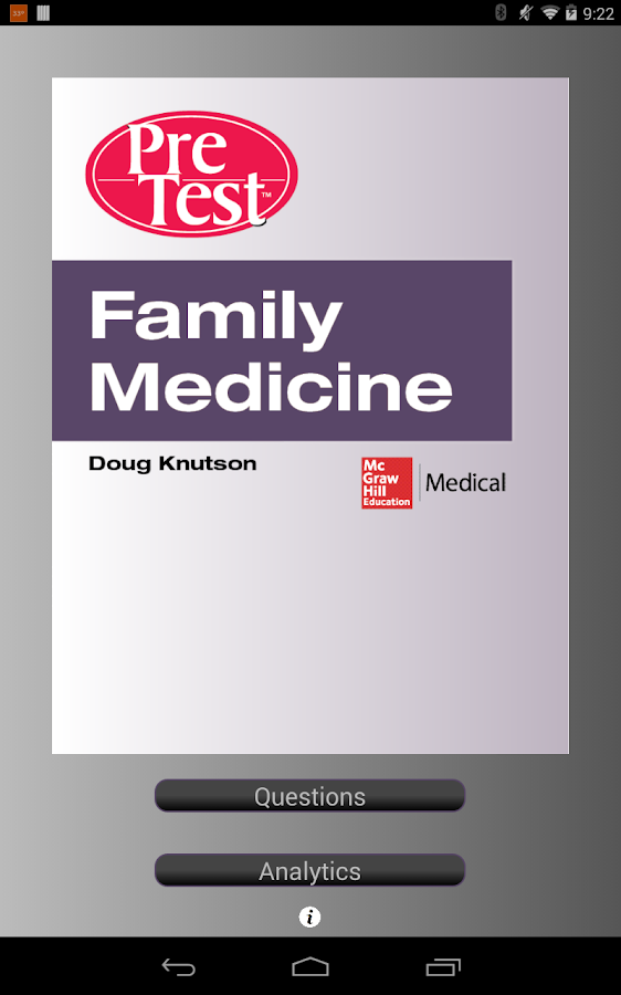 PreTest Family Medicine - screenshot