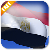 3D Egypt Flag Live Wallpaper