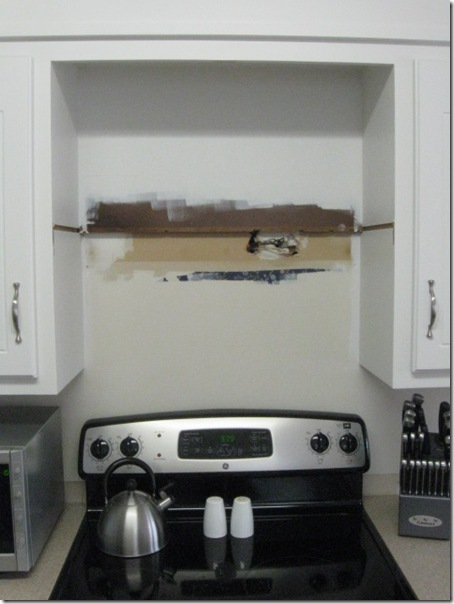 Since Neither That Nor The Old Cabinet Notches Were Going To Be Seen Sans Microwave