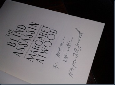 blind assassin signed