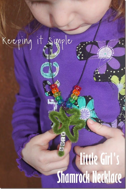 little-girls-shamrock-necklace #kidscraft
