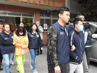 Một số du khách Việt Nam bị bắt ở Đài Loan.