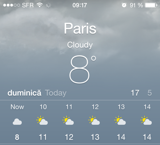 iOS 7.1 weather app confusing date and temperature