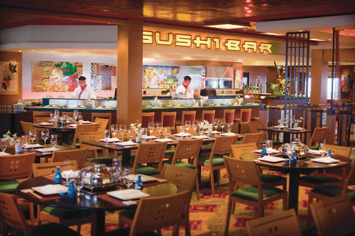 Norwegian-Pearl-dining-Sushi - When you're craving some sushi, head to the Lotus Garden restaurant on Norwegian Pearl's deck 7.