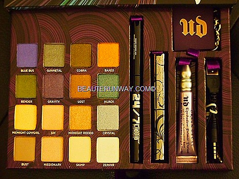 Urban Decay Book of Shadows 4 IV Blue Bus, Gunmetal, Cobra, Baked, Bender, Gravity, Lost, Hijack, Midnight Cowgirl, Sin, Midnight Rodeo, Crystal, Bust, Missionary, Skimp, Zephyr 237 waterproof liquid eyeliner macara