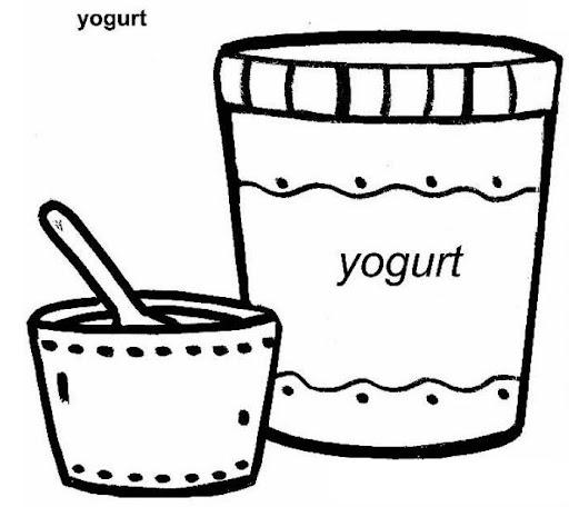 Dibujo Yogur Para Colorear Imagui