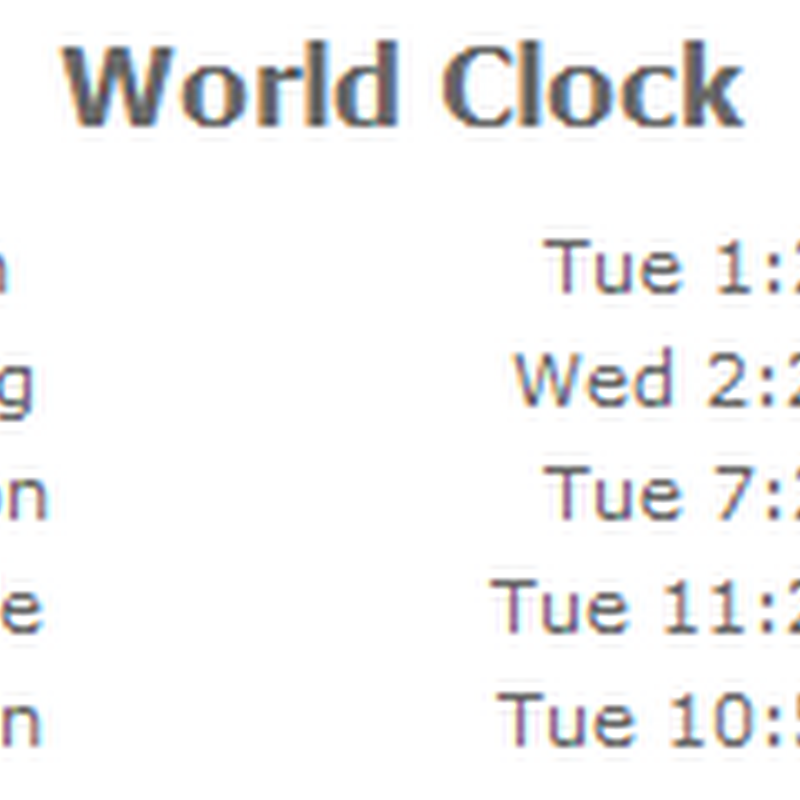 How to build a jQuery world clock in SharePoint - Tim Jones