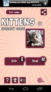 Memory Game - Kittens