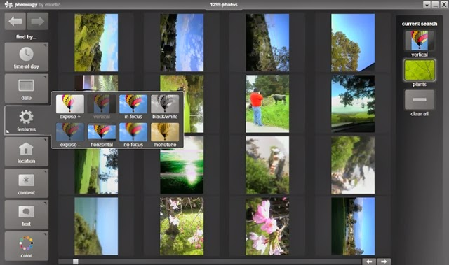 Example of the photology main screen