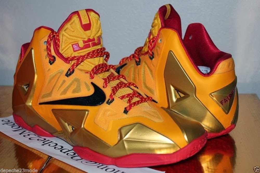 047e037ebfa5a Nike LeBron XI 11 Fairfax Lions Away PE 8211 Detailed Look ...