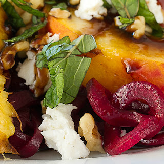 Beet, Peach & Goat Cheese Salad