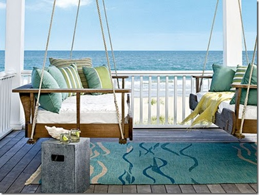 coastal living double porch swing