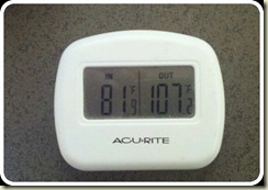 temp outside inside