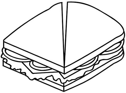 Dibujo de sandwich