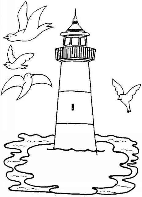 Dibujos De Faros Para Colorear