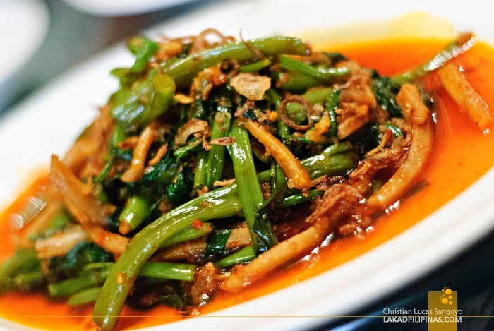 Seasonal Green Vegetables at Singapore's Blue Ginger Restaurant