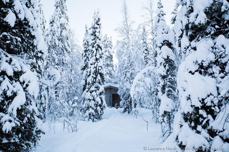 sauna snow lapland
