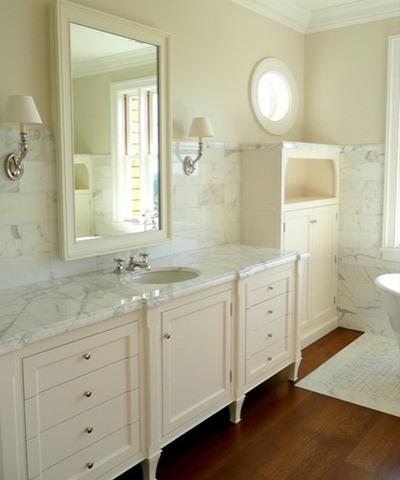 carrara guest bath