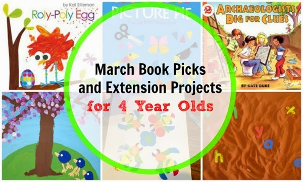 March Book Picks and Project Ideas for 4 Year Olds