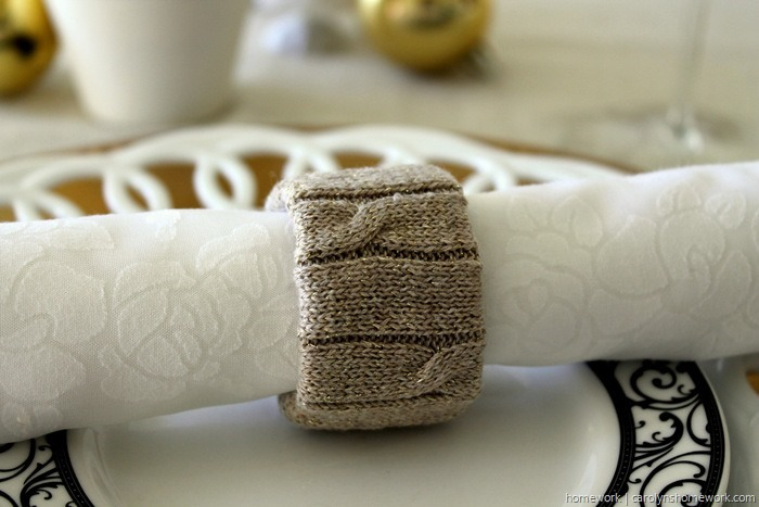 Upcycled Sweater Napkin Rings via homework (1)