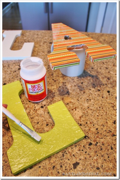 Mod Podge Fall Letters