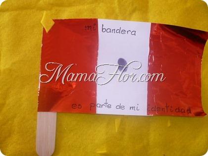 Fiesta Patrias De Perú Bandera Con Papel De Oropel Manualidades