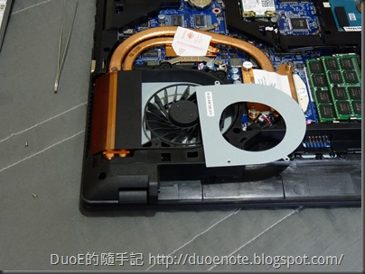 CJSCOPE QX-350HD i7 獨顯筆電-風扇拆解1