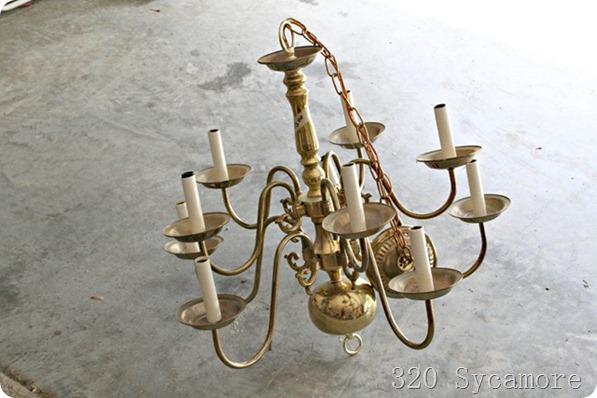 paint brass chandelier