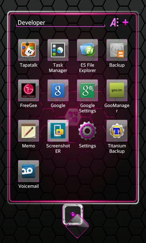 Pink Blend Next launcher - screenshot