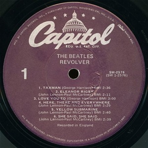 Beatles Revolver Purple Label
