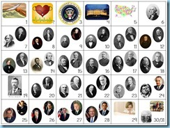 Calendar Connections Small Presidents